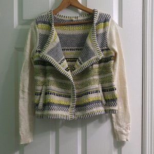 5/$25Moth for Anthro Open Front Cardigan YellowGra